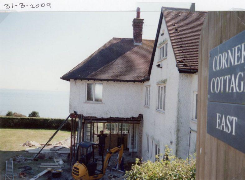Building Works at 'Corner Cottage East', Granville Road. March 2009