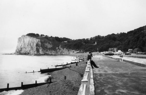 New completed promenade at St Margaret's Bay. 1950s