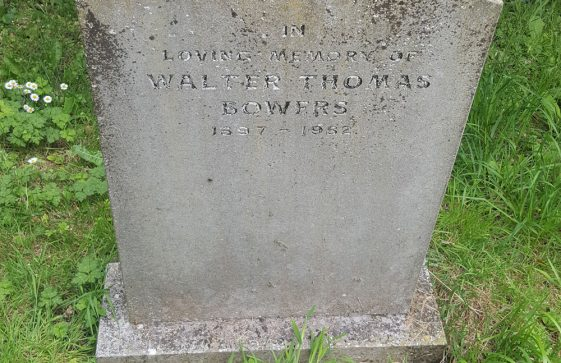 Gravestone of BOWERS Walter Thomas 1991