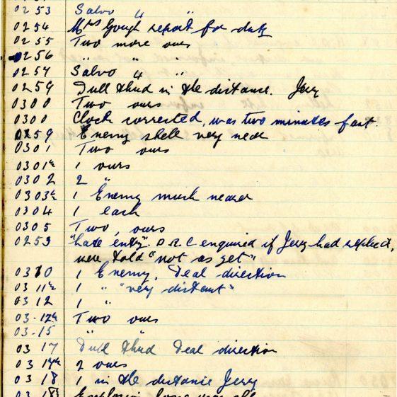 St Margaret's ARP (Air Raid Precautions) Log. Volume 7. 15 February 1943 - 25 October 1943. Pages 82-93