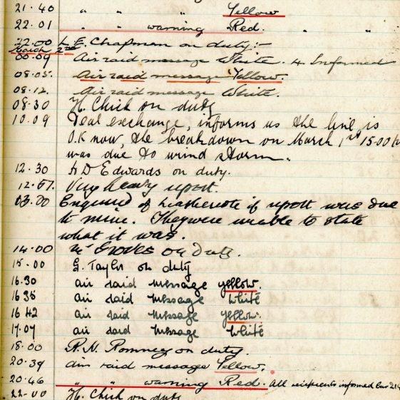 St Margaret's ARP (Air Raid Precautions) Log. Volume 4. 18 February 1941 - 25 September 1941. Pages 9-17