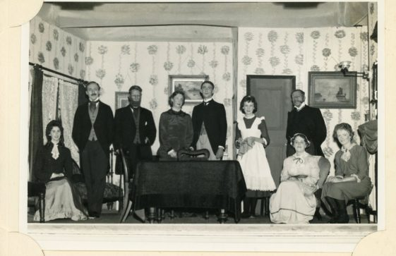 Cast of St Margaret's Players production 'Pink String and Sealing Wax'