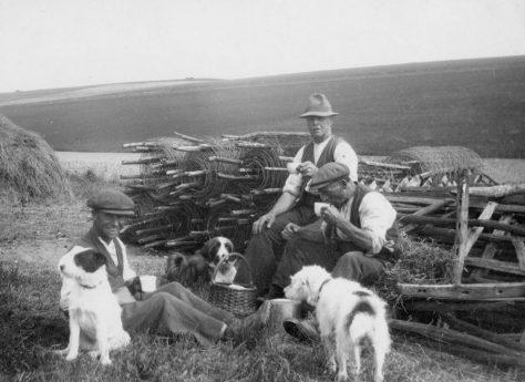 Time for a break, Bockhill Farm. c1928