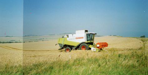 Harvesting at Bockill Farm. August 2005