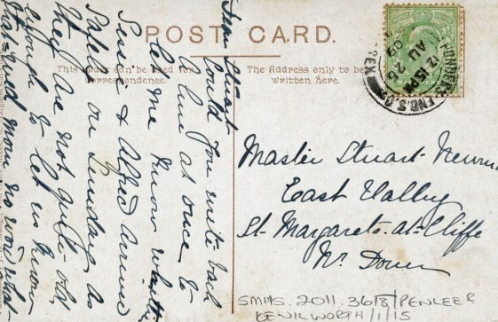 The Droveway and Penlee School. postmark 1909