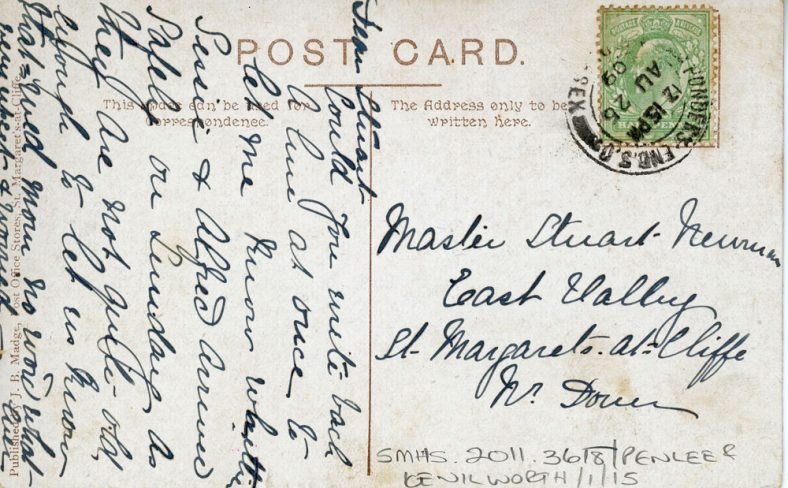 The Droveway and Penlee School. postmark 1909
